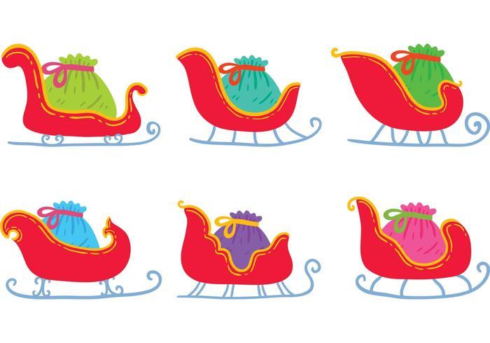 Gratis Handgetekende Kerstvliegvectoren vector