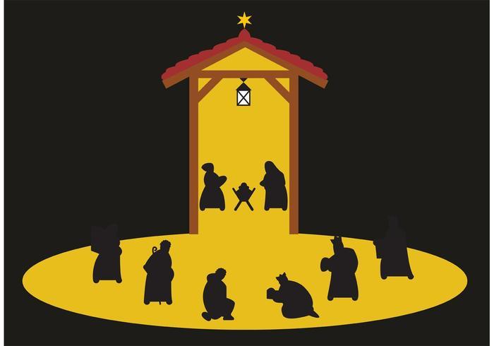 Manger scene / nativity scene vector
