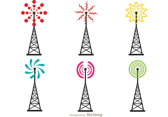 Bright Cell Tower Vector Pack