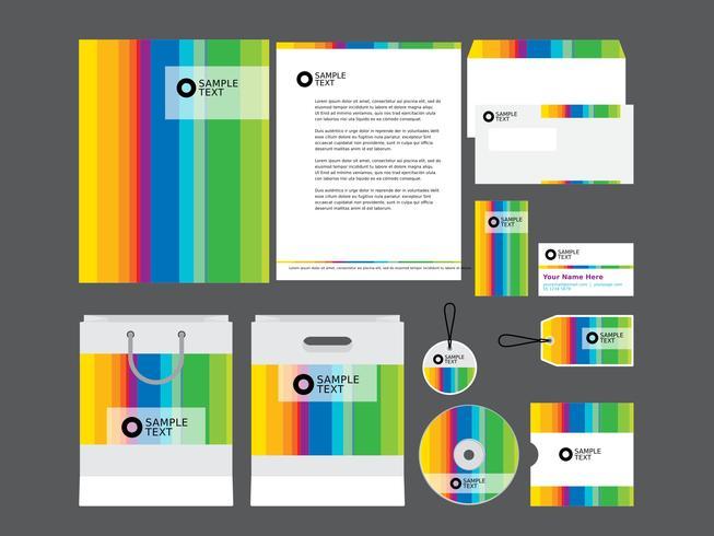 Regenboog Profiel Profiel Template vector