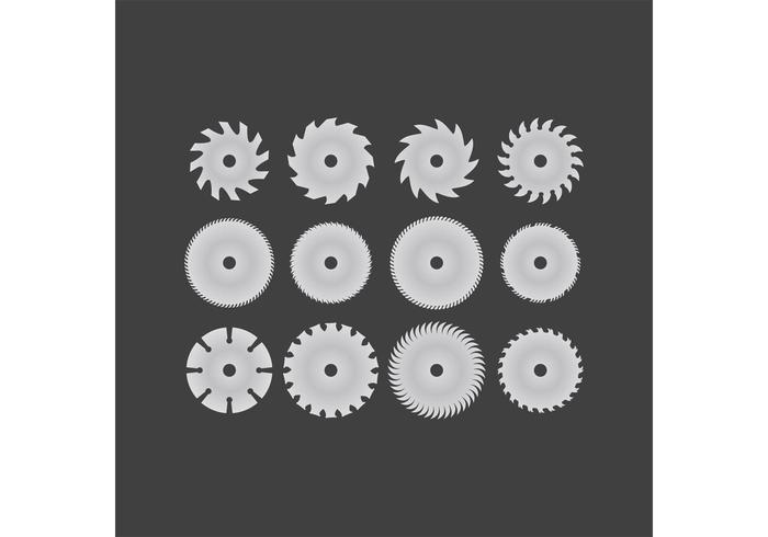 12 cirkelzaagbladvectoren vector