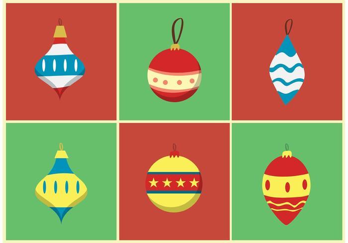 Retro Kerst Ornament Vectoren