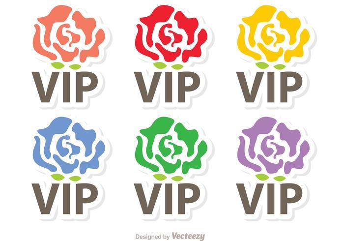 Rose VIP Pictogrammen Vector Pack