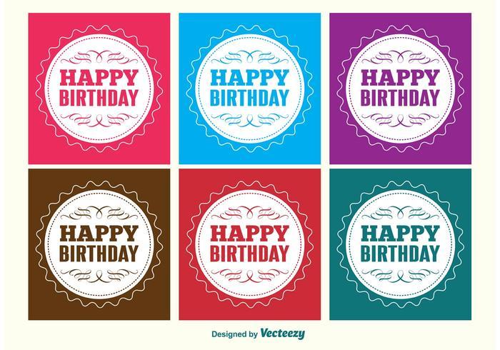 Gelukkige Verjaardag Etiketten vector