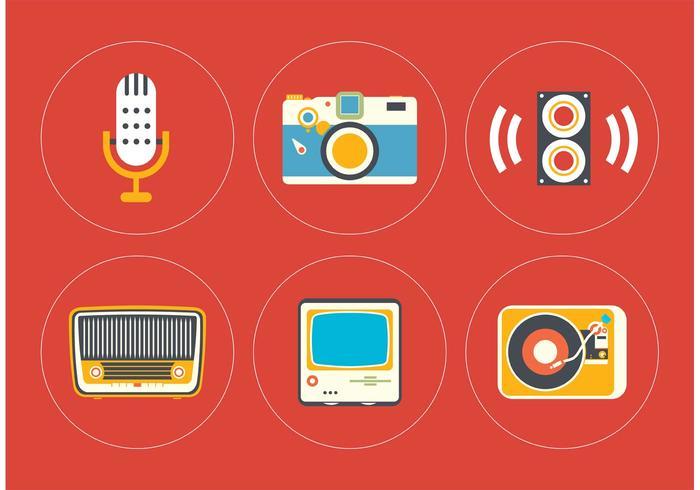 Vintage icoon vector set