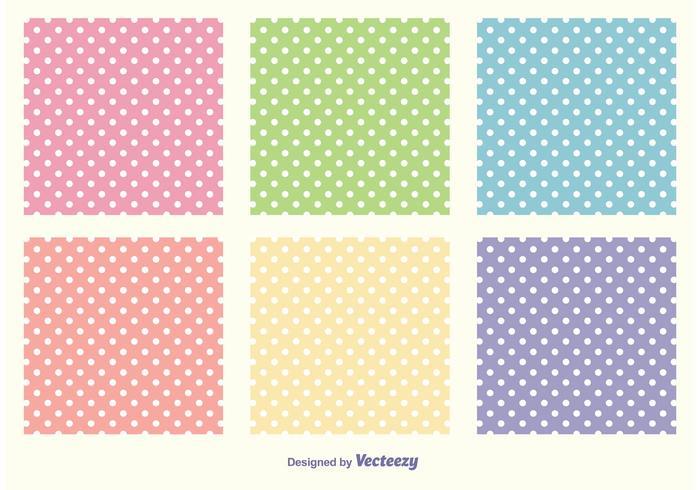Polka dot patroon set vector