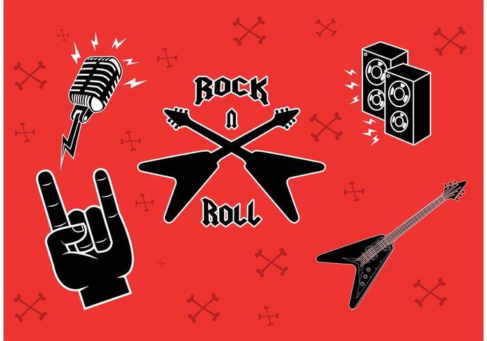 Rock Muziek Symbolen vector