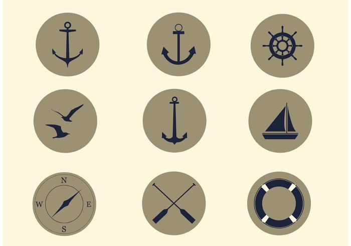 Gratis Vector Nautische Icon Set