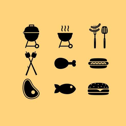 Kamp voedsel vector iconen