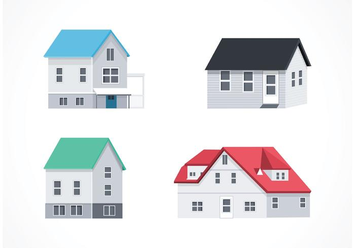 Gratis Vector Isometrische Huizen