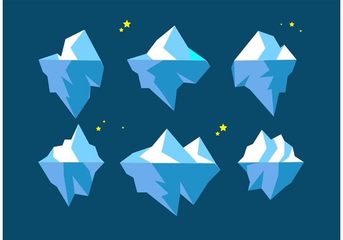 Drijvende ijsbergenvectoren vector