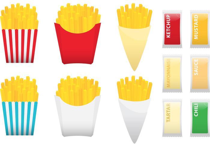 Fries Met Specerijen vector