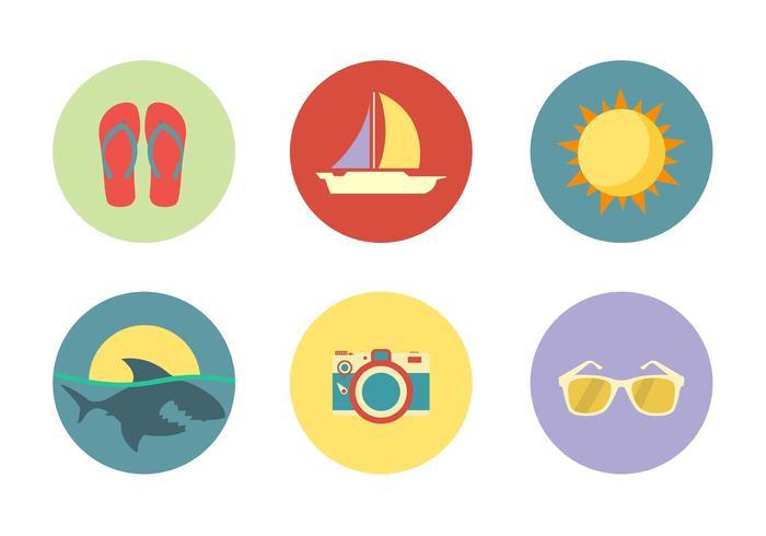 Strand iconen vector