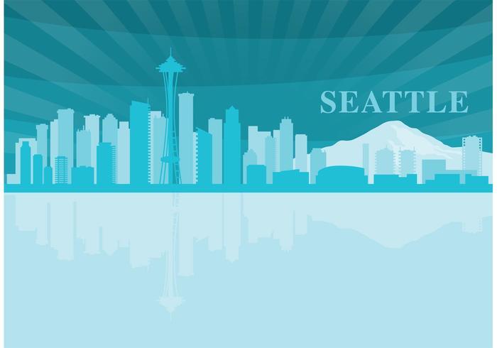 Seattle Landschap vector