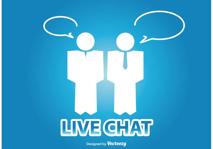 Live Chat Illustratie vector