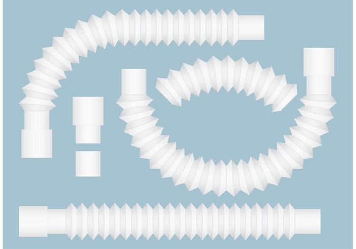 Flexibele sifonen en rioolpijpen vector