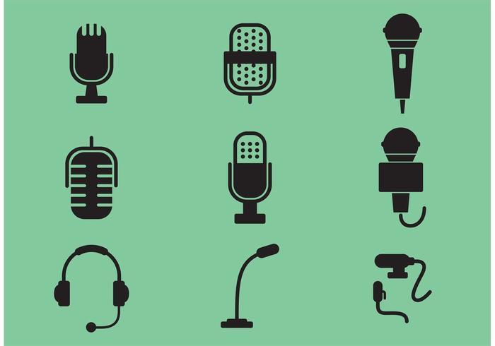 Microfoon Vector Pictogrammen