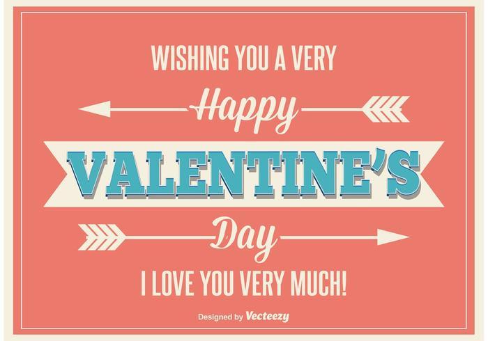 Retro Valentijnsdag Illustratie vector