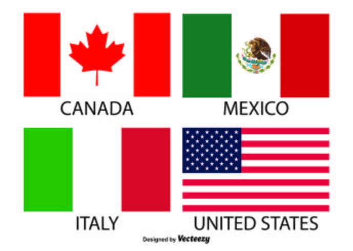Vector vlaggen