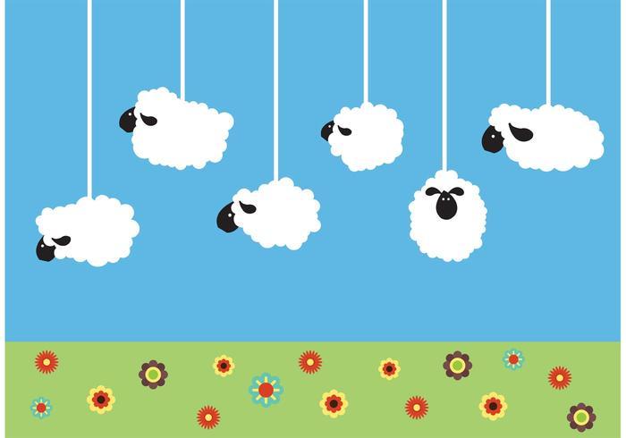 Hangende schapenvectoren vector