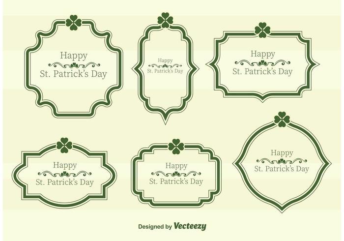 St. Patrick's Day Vector Tekst Frames