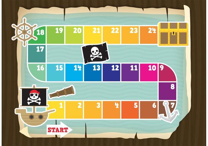 Vector piraat spel bord