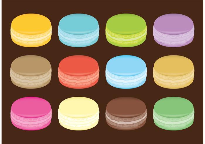 Macarons Vectoren