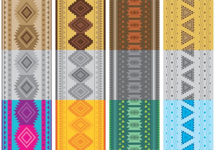 Inheemse Amerikaanse patronen vectoren