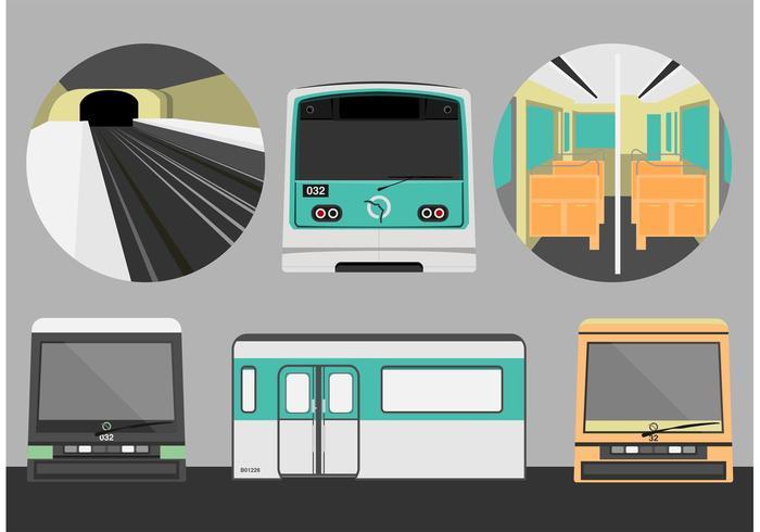 Parijs Metro Gratis Vector