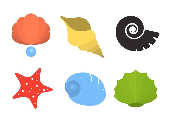 Pearl Shell en Shellfish Vectors