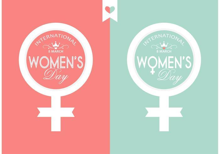 Gratis Vector Vrouwendag Typografie Design