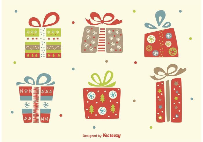 Kerstvlokken Vector Giften