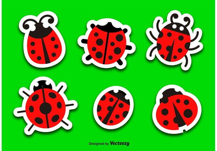 Lieveheersbeestje vector cartoon