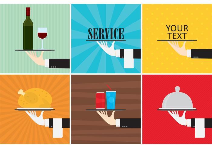 Waiter Service Achtergrond Vectoren