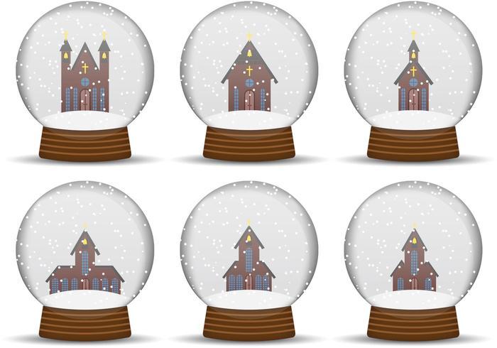 Church Snow Globe Vectoren