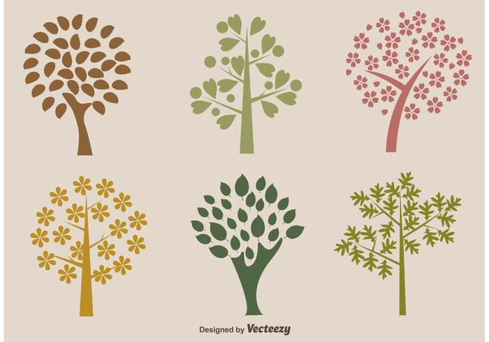 Organische Bomen Vector Silhouetten