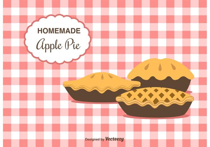 Home Made Apple Pie Vector Achtergrond