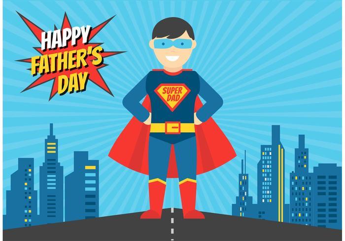 Gratis Superhero Papa Vector Illustratie