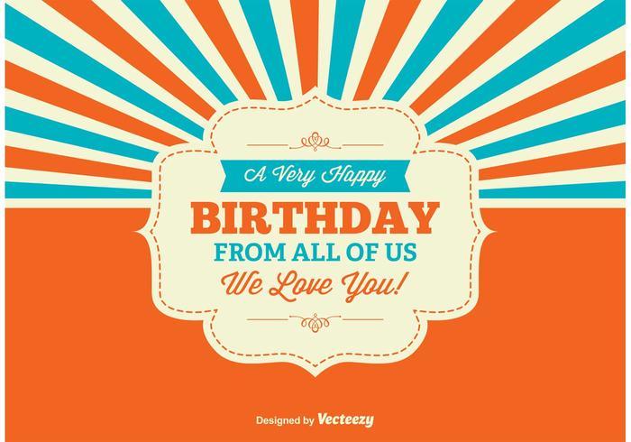 Kleurrijke Verjaardag Illustratie vector