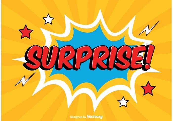 Comic Style Surprise Illustratie vector