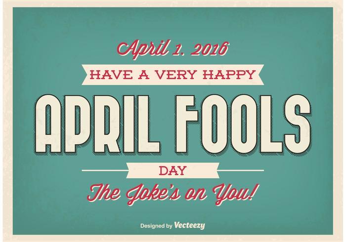 Typografisch Poster van de Dag van de Fools van April vector