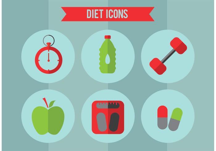 Diet Vector Icon Set
