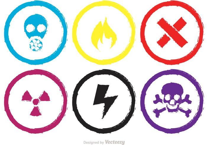 Kleurrijke Chemische Teken Vectors