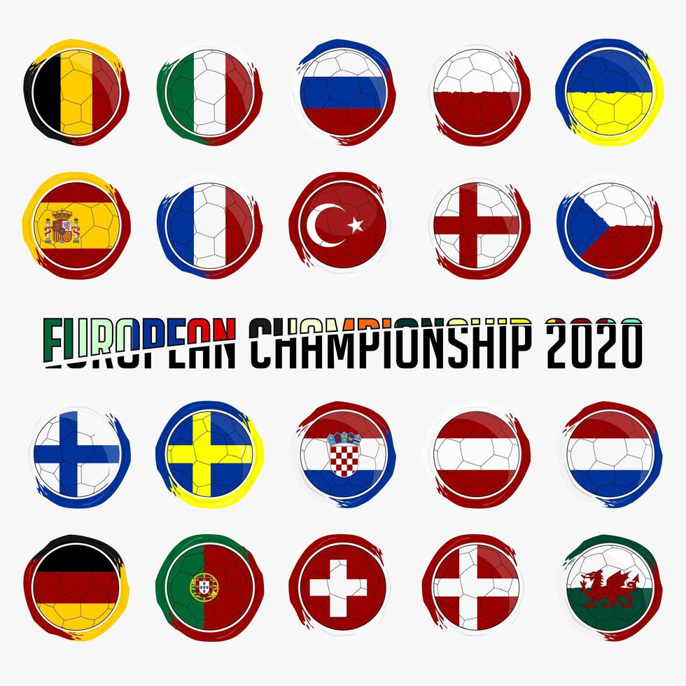 nationale vlaggen van Europa instellen vector