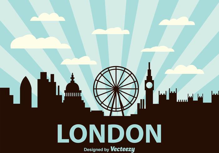 Londen stad scape achtergrond vector