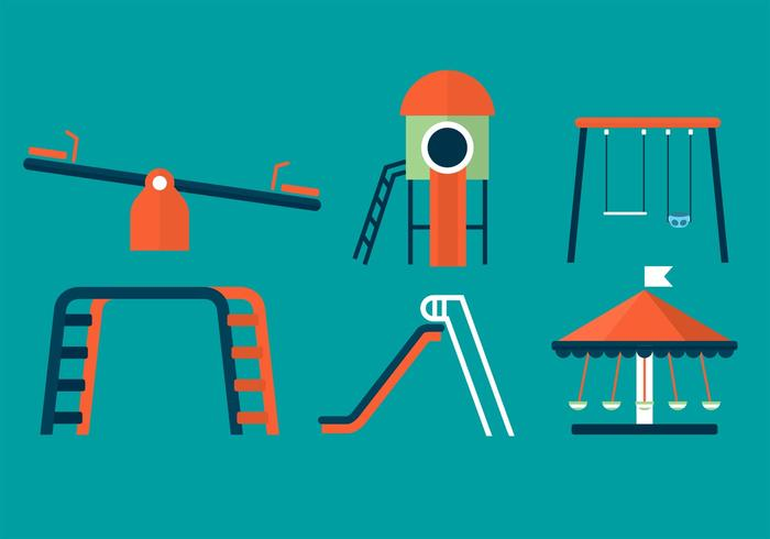 Zie Saw and Playground Vectors