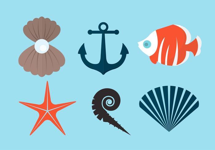 Pearl Shell en andere vectorelementen vector