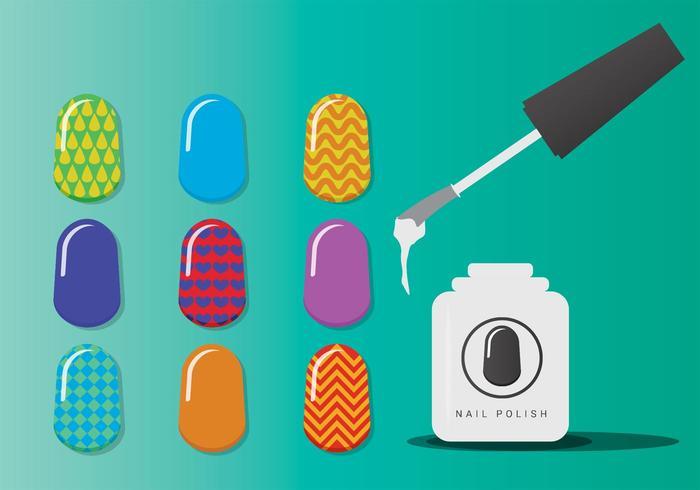 Manicure Nagelvectoren vector