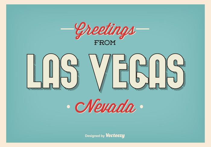Het vintage Poster van de Groet van Las Vegas vector