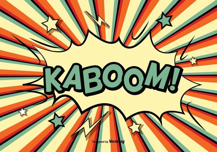 Comic Style Kaboom Illustratie vector